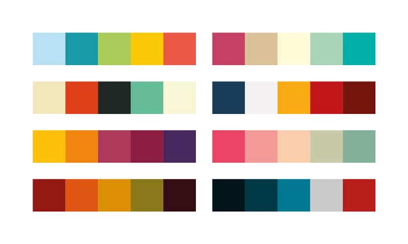 Farver i Visuel Identitet med farvepalette