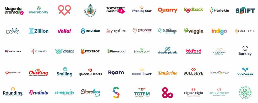 50 logo eksempler