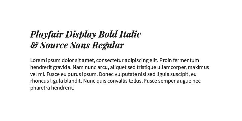 Typografi parring eksempel